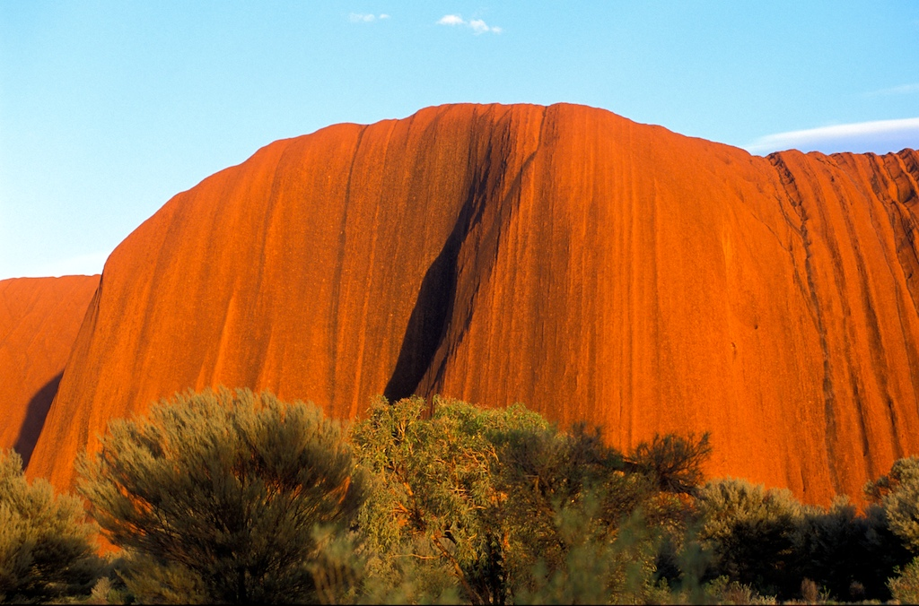 Australia uluru-steep part
