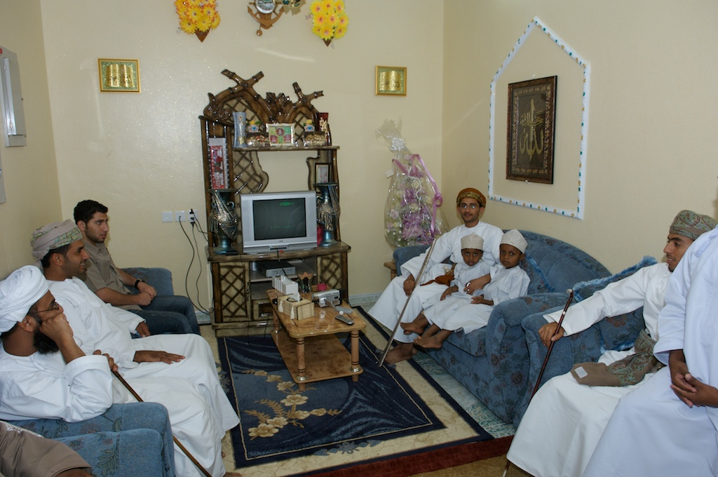 Omani-groom and men-children