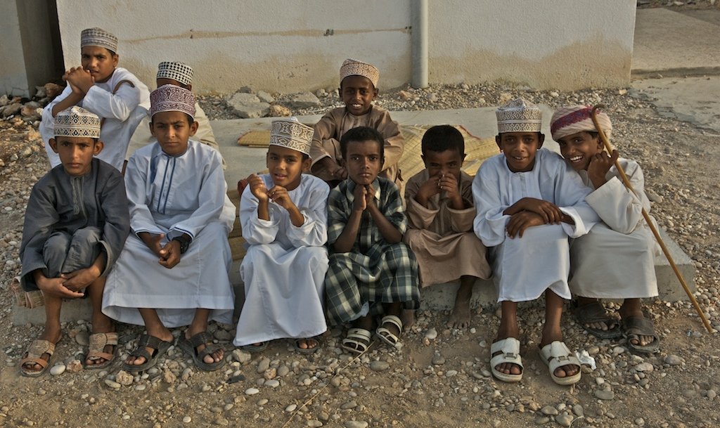 Omani wedding-village children