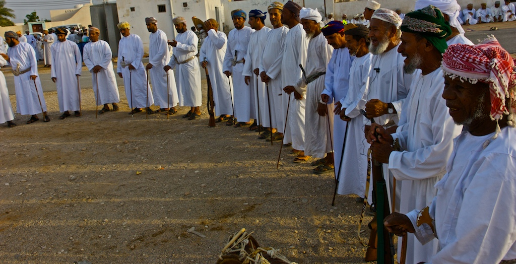 Omani wedding-village elders gathering