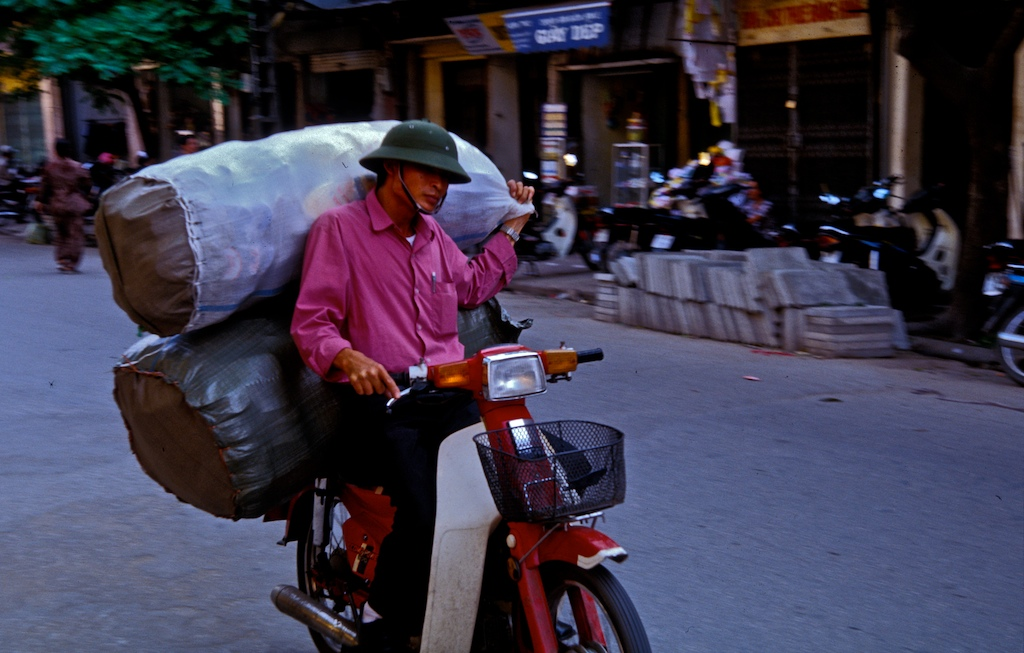 Vietnam-bike man and bags